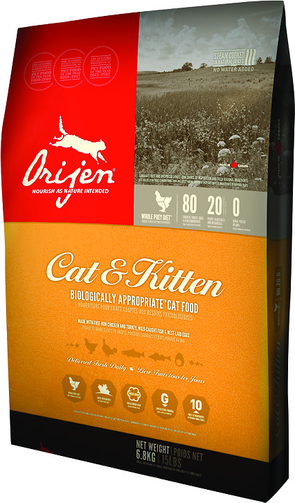 Orijen Cat & Kitten Dry Cat Food 5 Lbs
