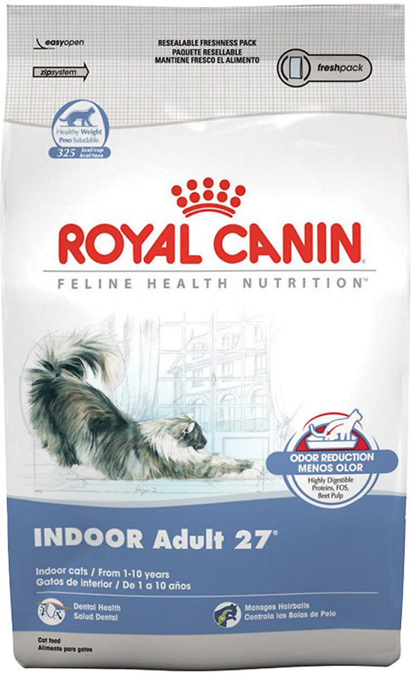 Royal Canin Dry Cat Food, Indoor Adult 27 Formula, 15-Pound Bag